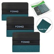 FOSHIO 3/6pcs 필름 청소용 스퀴지 탄소 섬유 스크레이퍼 스티커 리무버 창 색조 유리 비닐 애플리케이터 도구