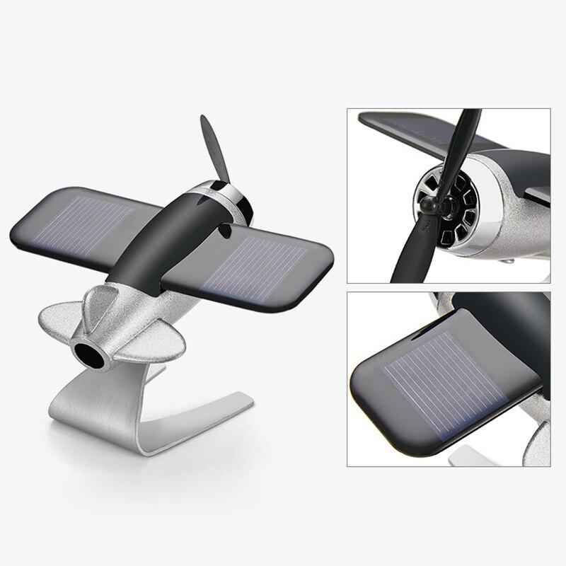 Car Air Freshener Airplane Aircraft Model Solar Energy Aromatherapy Interior Decoration NJ88