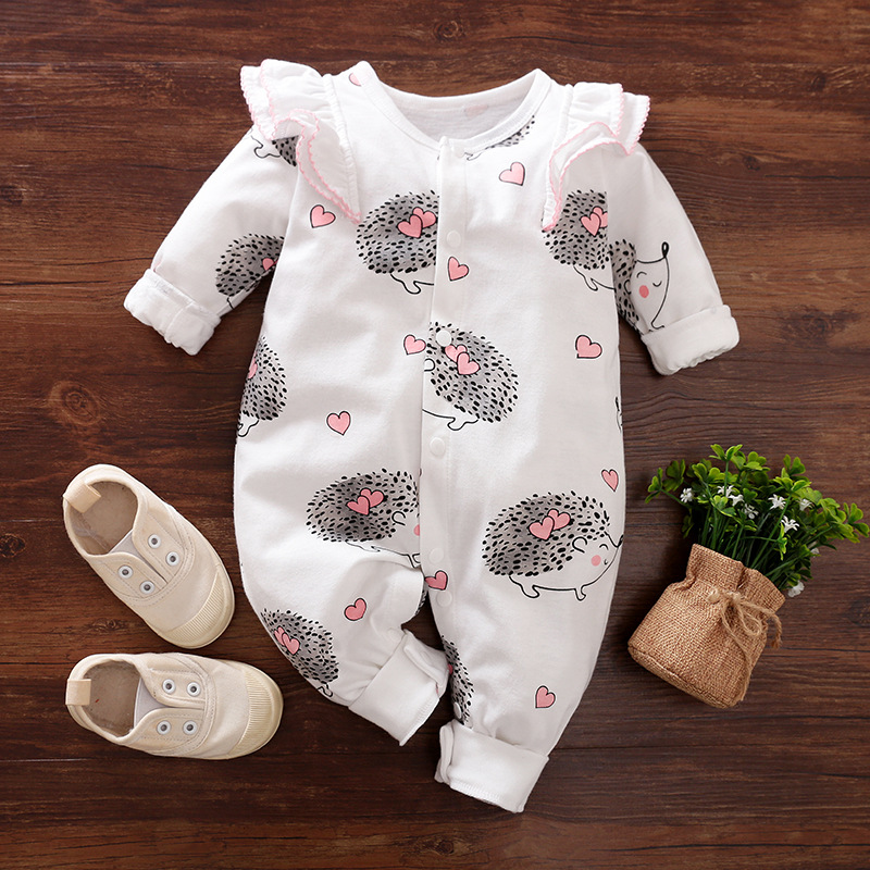 New Born Baby Girl Romper Babygrow Newborn Infant Toddler Girls Costume Hedgehog Onesie Long Sleeve Jumpsuit Carters Clothes