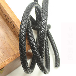 2meters/lot 3/4/5mm Black Brown Round Vintage Braided Genuine Leather Cord Cow Leather Cord for Bracelet Jewelry Making Findings