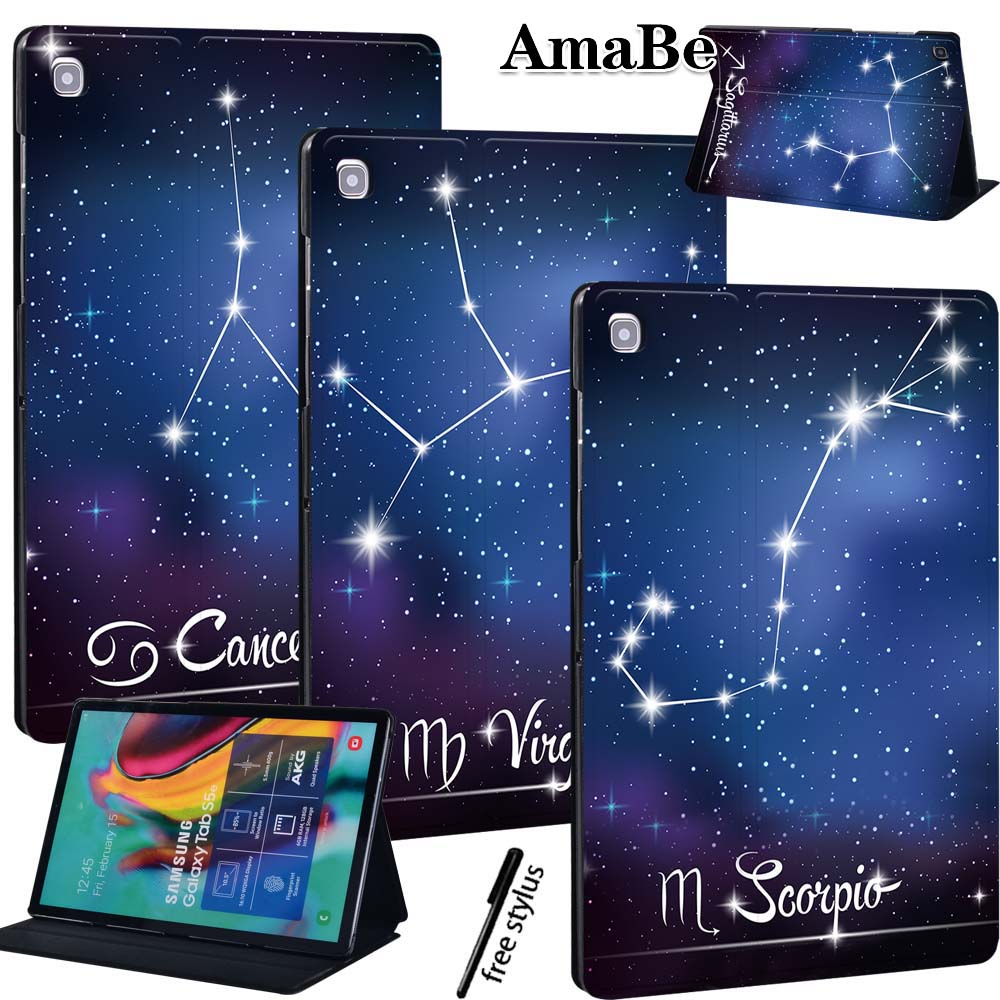 Star Anti-Dust Soft Leather Cover <font><b>Case</b></font> for Samsung Galaxy Tab S5e <font><b>T720</b></font> 10.5 Inch PU <font><b>Case</b></font> Protective Shell image