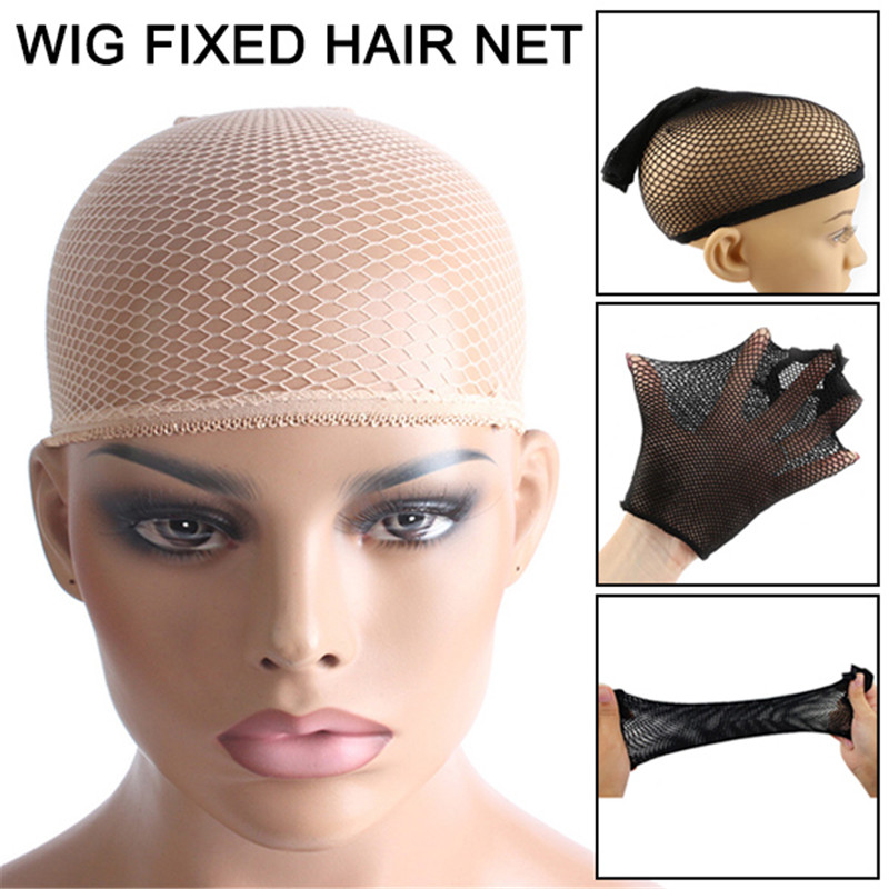 Elastic Wig Cap Top Hair Wigs Fishnet Liner Weaving Mesh Stocking Net For Women Men SK88