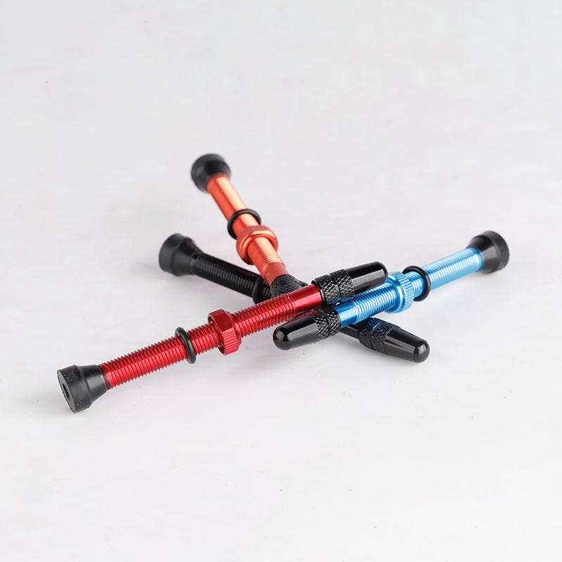 Велосипед 1 пара 48 мм 60 мм Presta клапан для дороги MTB велосипед бескамерные шины латунь ядро сплав стволовых бескамерный герметик совместимый
