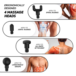 Image 3 - Muscle Massage Gun Deep Tissue Massager Therapy Gun Exercising Muscle Body Slimming Shaping Pain Relief Black Silver With Case