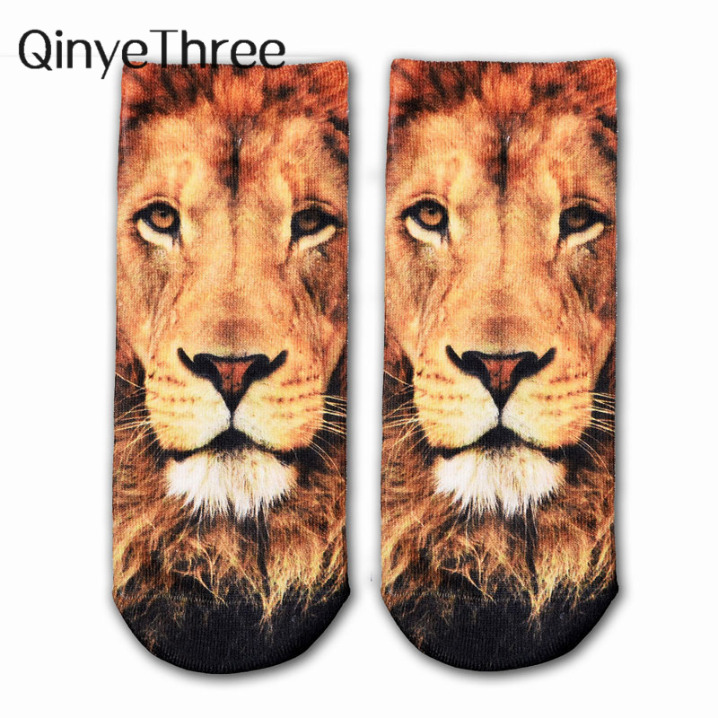 New 3D Print Animal Socks Fashion Tiger Pandon Cat Dog Lion Art Picture Women Socks Colorful Cotton Socks Women Funny Art Socks