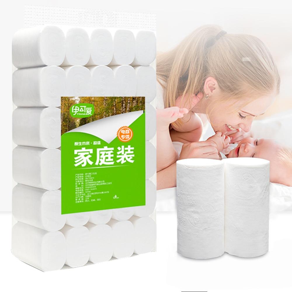 10pcs Four Layer Toilet Tissue Home Bath Toilet Roll Wood Pulp Toilet Paper Soft Toilet Paper Skin-friendly Paper Towels