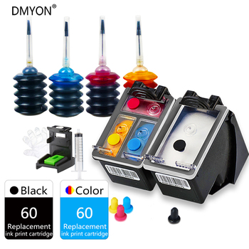 DMYON 60 XL Ink Cartridge Replacement for HP Refill Deskjet C4635 C4640 C4650 C4680 C4740 C4750 C4780 C4795 D2530 D2545