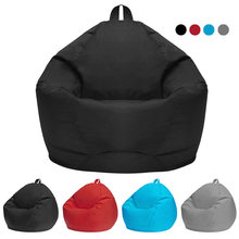 Lazy Bag Sofas Cover Chairs without Filler Linen Cloth Lounger Seat Bean Bag Puff asiento Couch Tatami Living Room Furniture(China)