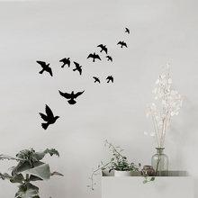 Grupy ptaki naklejki ścienne czarny rzeźbione pcv sofa do salonu dekoracja otoczenia i tv naklejki ścienne naklejki artystyczne tapety