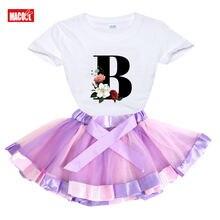 Хлопковый комплект одежды для девочек летняя майка из двух предметов
