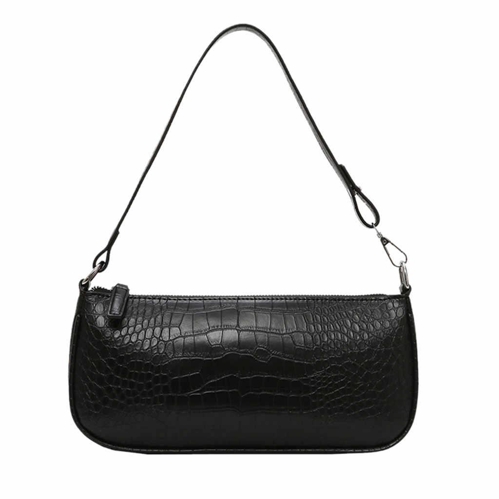Bolsa de ombro feminina de couro do plutônio sólido mensageiro saco das senhoras casual zíper bolsa de ombro feminino bolsa de viagem sac main femme 2019