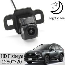 Owtosin HD 1280*720 Fisheye מצלמה אחורית לטויוטה RAV4 RAV 4 V XA50 2019 2020 רכב הפוך צג חניה אביזרים