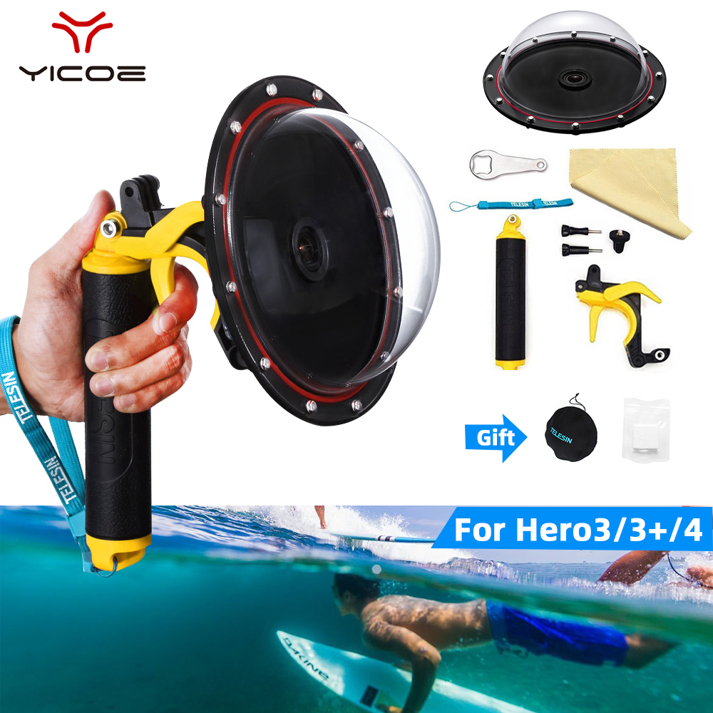 Go Pro Dome Port Accessories For GoPro Hero 4 3 3 Waterproof Case Floating Trigger Dome