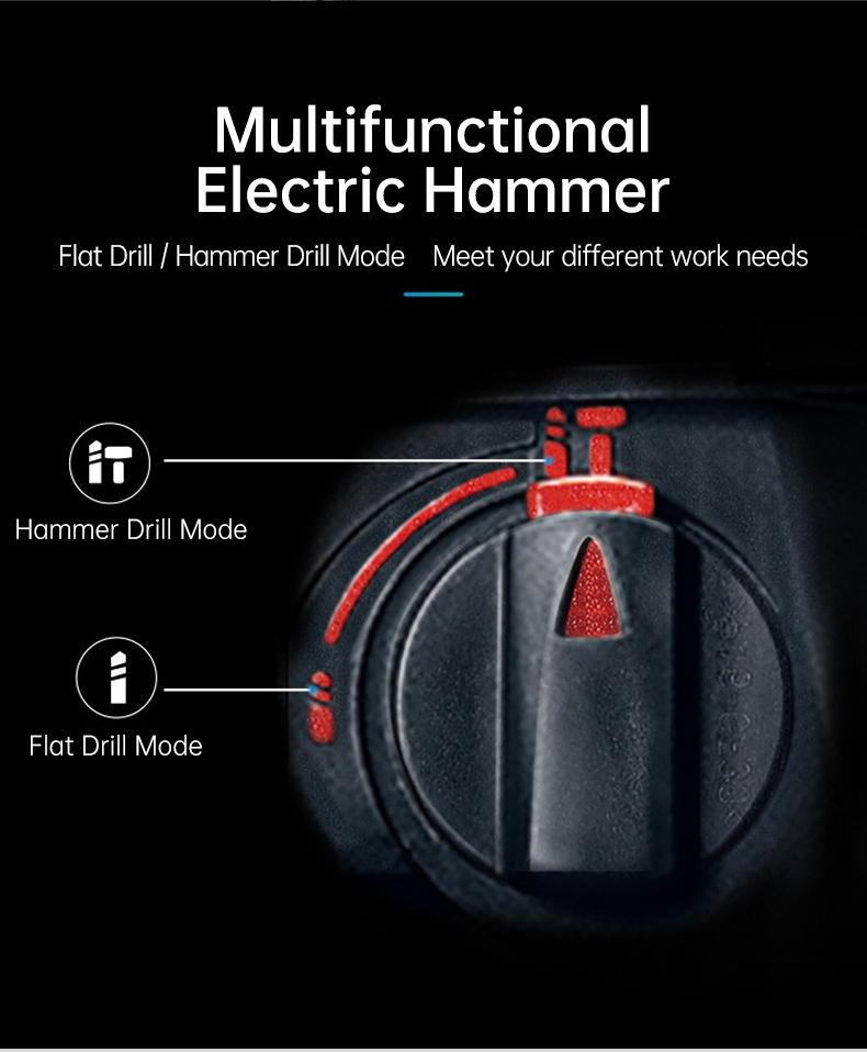 Multifunctional electric hammer