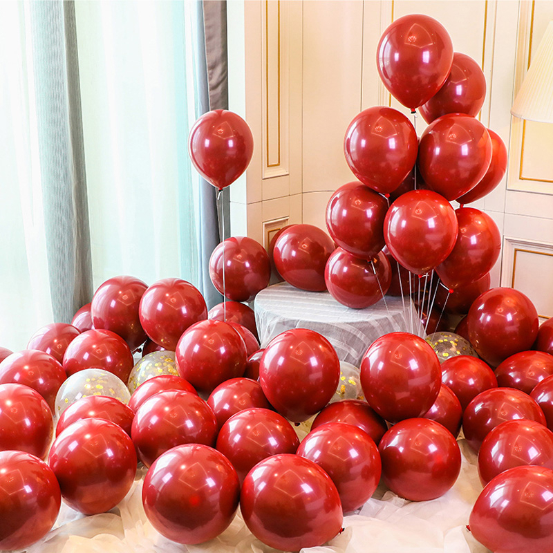 10 Inch Double-layer Latex Balloon Ruby Red Proposal Marriage Wedding Room Holiday Decoration