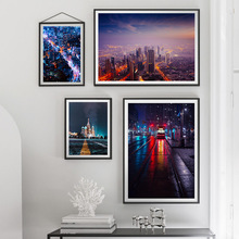 Nordic City Landscape Rail Car Wall Art Canvas Painting Posters And Prints Pictures For Living Room Bed