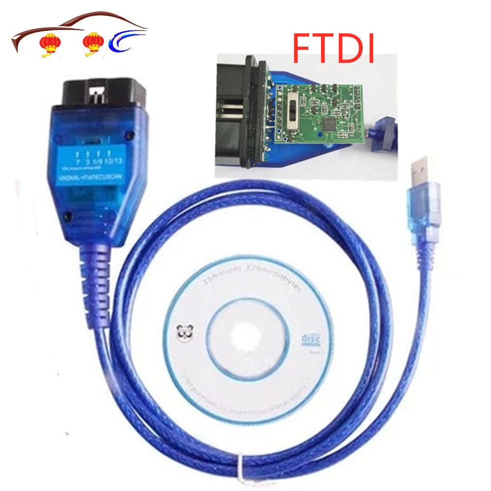 Test Line Diagnostic Cable FTDI Chip Software For Vag Usb   Fiat Ecu Interface Car Ecu Scan Tool 4 Way Switch