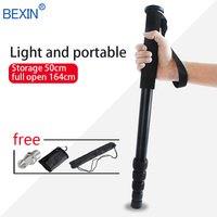 P 285A tripod professional monopod lightweight portable video monopod for dslr camera with foot nail monopod bag
