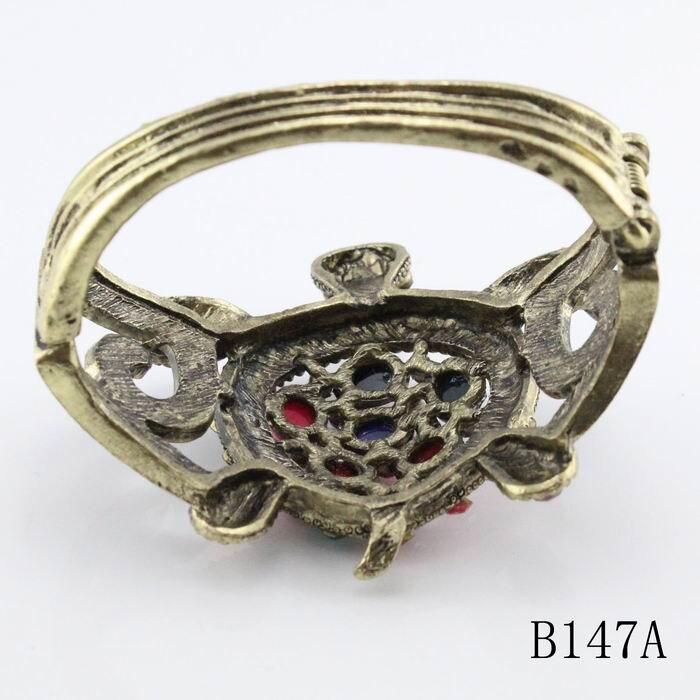 Модные большие браслеты дизайн Милая черепаха Красочные Стразы браслет Розничная ювелирные изделия