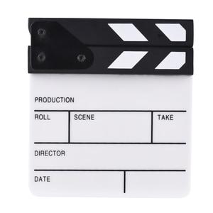 Image 3 - Compact Size Acrylic Clapboard TV Film Movie Director Cut Action Scene Clapper Board Slate