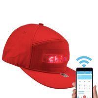 2020 New Men Women Bluetooth LED APP Controlled Baseball Hat Message Display Hip Hop Cap