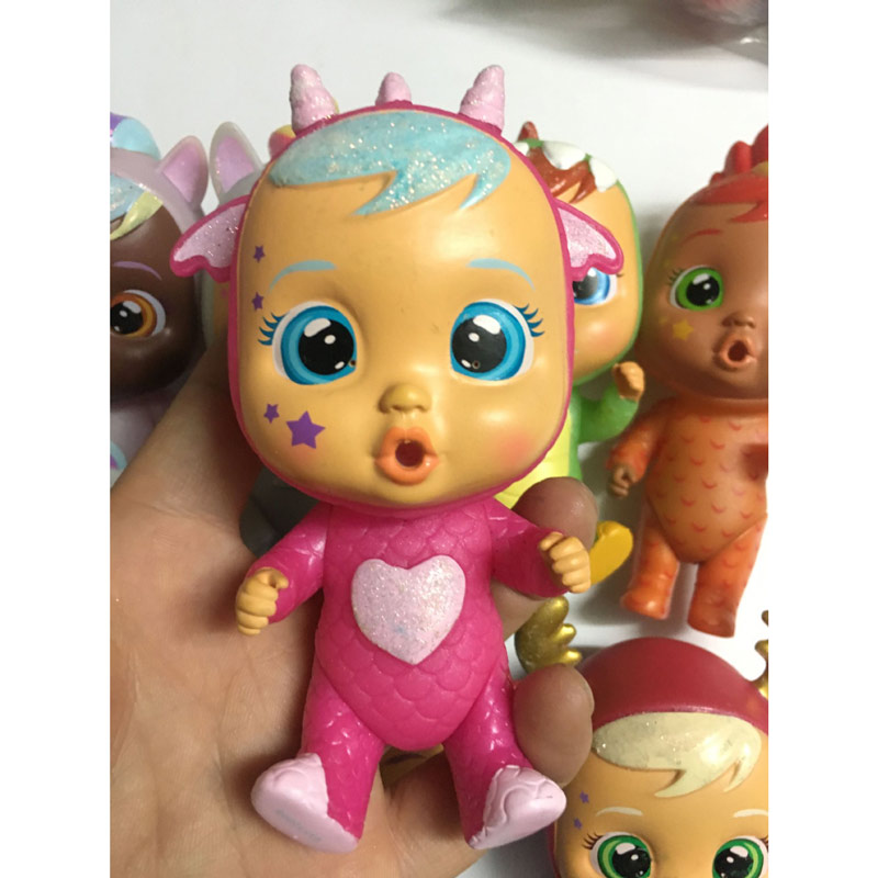 1 Piece 12cm Baby Dolls Cry Baby Unicorns Little Devil Reindeer Style Baby Action Figure Doll