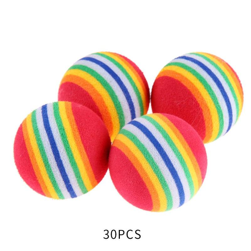 EVA Rainbow Strip Soft Golf Ball Easy Handy Installation No Tools Required Indoor Outdoor Practice Aid Tool 30pcs 38mm
