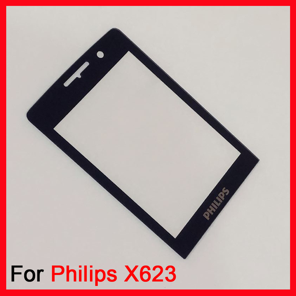 Lens Front Glass For For Philips Xenium E560 E570 E571 X623 X5500 Front Panel Mobile Phone Glass Not Touch Screen Digitizer