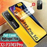 Suave Cristal Templa Poco M3 Pro Protector Hidrogel Xiaomi poco m3 pro 5g Protector de pantalla Poco X3 Pro película frontal Pocophone X 3 NFC Screen Protector Poko F3 M3Pro Poco m 3 pro Hydrogel Glass Poco M3 Pro 5G
