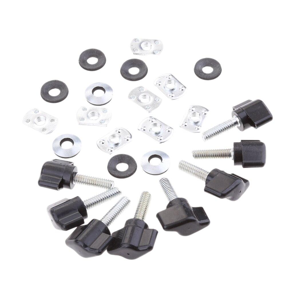 8 conjuntos de kits de parafuso de polegar de prendedor de remoção rápida para jeep wrangler yj tj jk