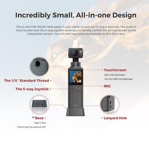 Image 4 - Câmera portátil do cardan do estabilizador 4k hd da câmera do cardan da ação de 3 eixos do bolso da palma de fimi para o smartphone de vlog