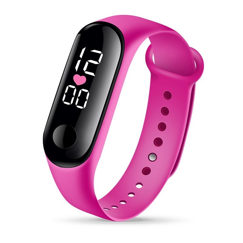 Электронный LED Цифровой Детский% 27s Часы Открытый Спорт Часы Для Мальчиков Девочек Силикон Водонепроницаемый Дети Часы Мужчины Женщины Подарок Часы