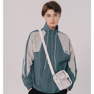 Image 5 - Homens hip hop blusão jaqueta retro cor bloco retalhos harajuku streetwear jaqueta casacos com zíper jaquetas pista outono 2019 novo