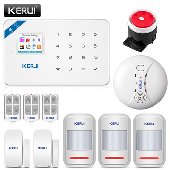 KERUI W18 Wifi GSM IOS/Android APP Control Alarm System LCD GSM SMS Wireless Home Security Motion Detection Burglar Alarm Kit kerui w18 wireless wifi gsm alarm systems security ios app gsm sms burglar alarm system motion sensor russian warehouse