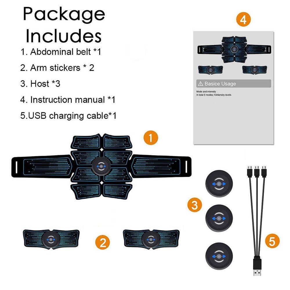 Stimulator de stimulare a mușchilor abdominali EMS conectare USB - Fitness și culturism - Fotografie 6