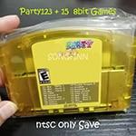 Super 18 in 1 Paty 123 + 15 8 Bit Gioco per 64 Bit Video Game Console Degli Stati Uniti Ntsc Versione