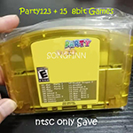Super 18 in 1 Paty 123 + 15 8 bit Game for 64 bit Video Game Console US NTSC Version