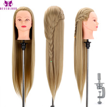 Head Dolls for Hairdressers 30'' Hair Synthetic Mannequin Head Hairstyles Female Mannequin Hairdressing Styling Training Head