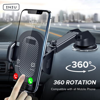 INIU Sucker Car Phone Holder 360 Mount in Car Stand No Magnetic Support Mobile Cell Cellphone Smartphone For iPhone X Max Xiaomi