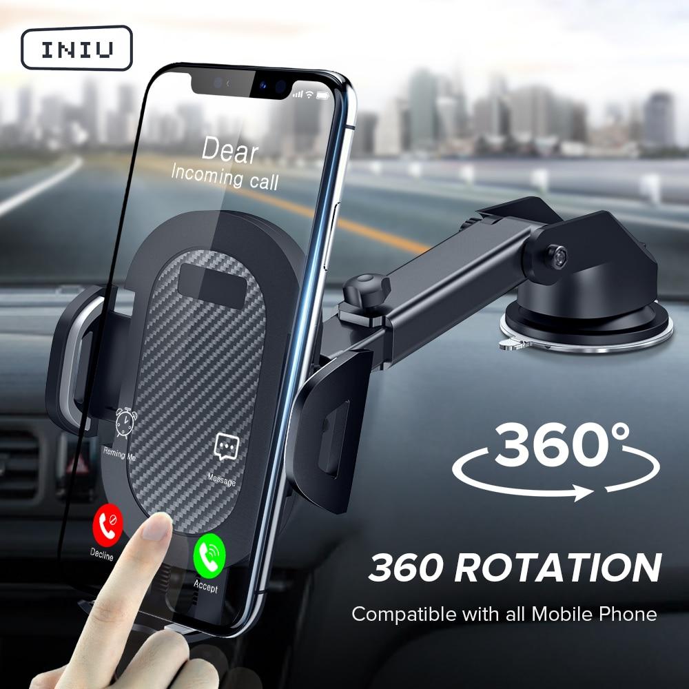 INIU Sucker Car Phone Holder 360 montaje en el soporte del coche sin soporte magnético móvil celular Smartphone para iPhone X Max Xiaomi