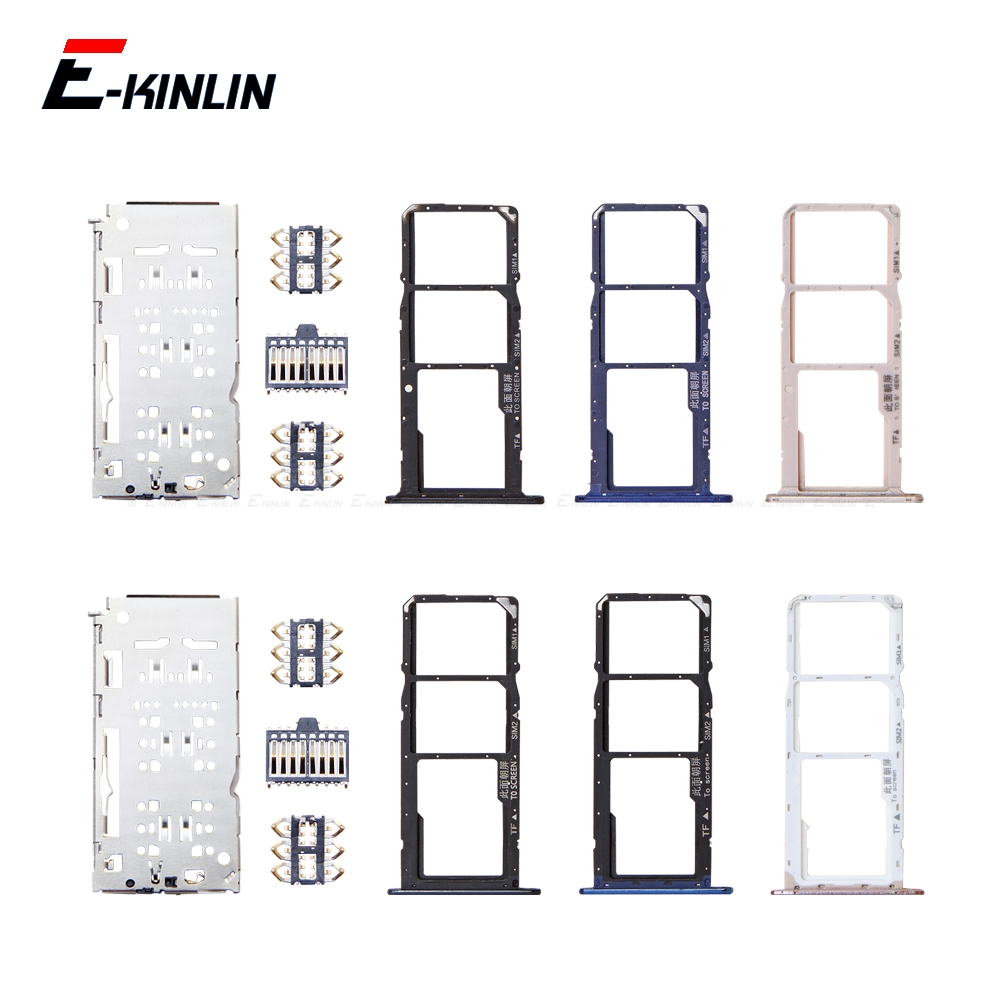 Sim Card / Micro SD Card Tray Socket Holder Slot Container Connector Adapter Reader Replacement Parts For HuaWei Honor 7A Pro