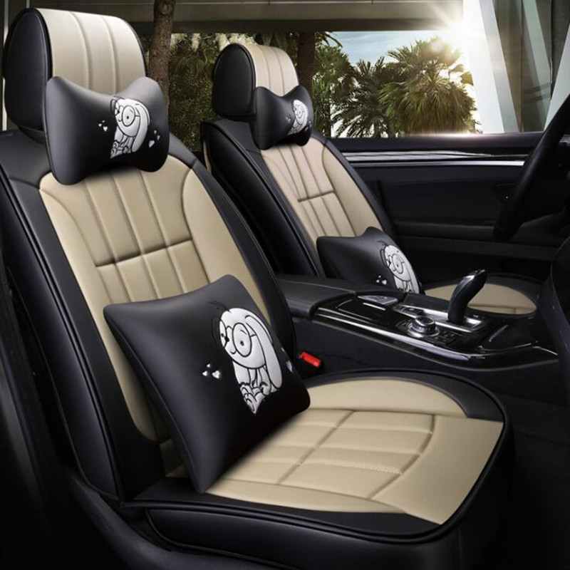 Front+Rear)Leather&Flax auto <font><b>seat</b></font> <font><b>covers</b></font> for <font><b>Toyota</b></font> camry 40 50 <font><b>2007</b></font> 2008 2009 2012 2018 fortuner 2017 highlander Hilux image
