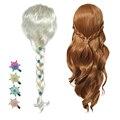 Новый парик Анны и Эльзы 2 повязки для волос для принцесс аксессуары для вечерние для девочек головные уборы в оплетке принцессы рождествен...
