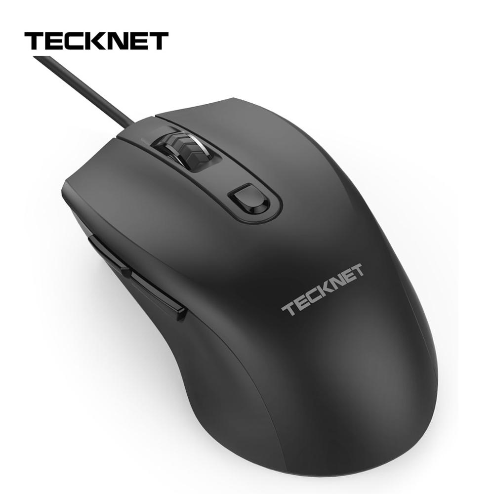 TeckNet Alpha S3 6-Button USB Wired Mouse Optical Office Business Gaming Mouse Mice For Windows XP/Vista/7/8/10, Mac And Linux