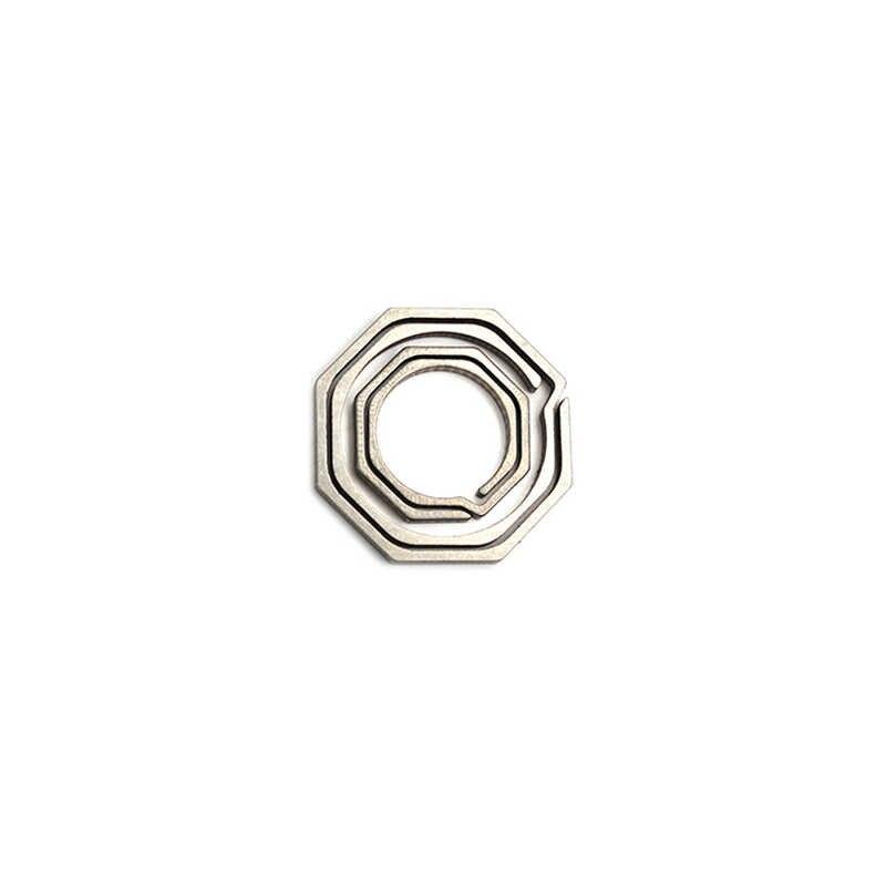 1 Pcs Titanium alloy Carabiner Key Clip Keychain Kooks Key King Hanging Buckle Hiking Backpack Key Ring Octagon Shape