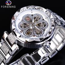 Forsining Women Watch Top Brand Luxury Diamond Female Mechanical Automa