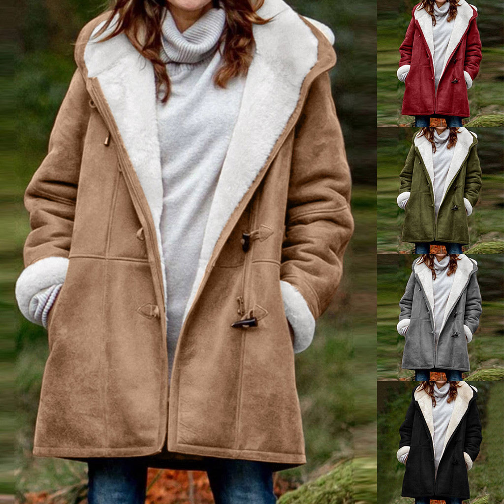 Women Winter Faux Fur Coats With Large Pockets Long Sleeve Hooded Plush Sweater Casual Warm Jacket Coat 2020 Hot Sale