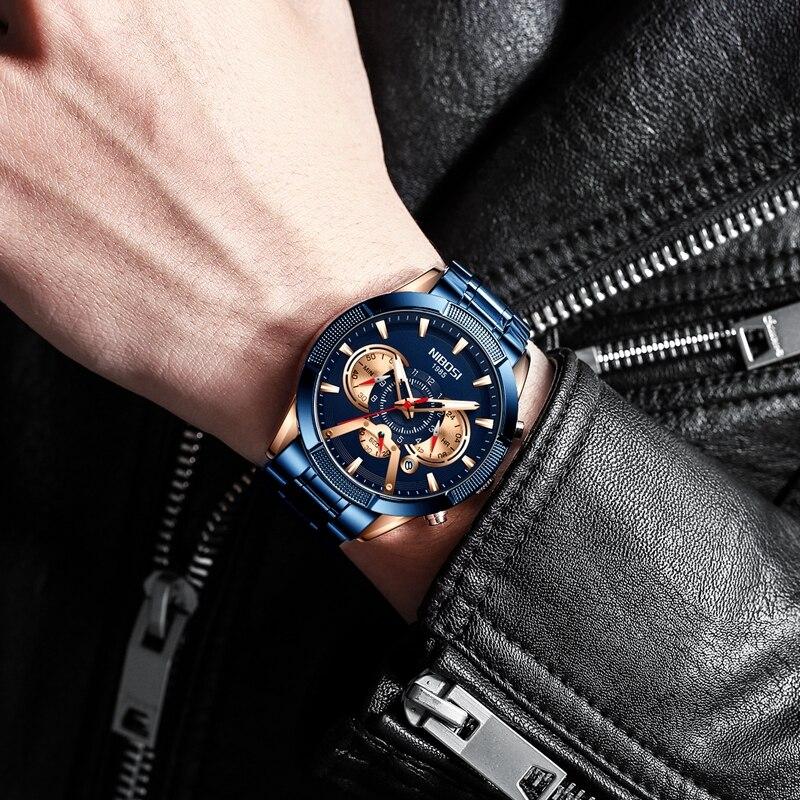 NIBOSI 2020 New Arrival Men Watch Top Luxury Brand Sport Watches Mens Chronograph Quartz Wristwatch Date Male Relogio Masculino 6
