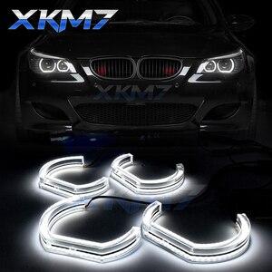 DTM Angel Eyes LED para BMW 5 Series E60 E61 pre-lci M5 525i 528i 530i 545i 550i 2007-2010 accesorios de xenón Tuning