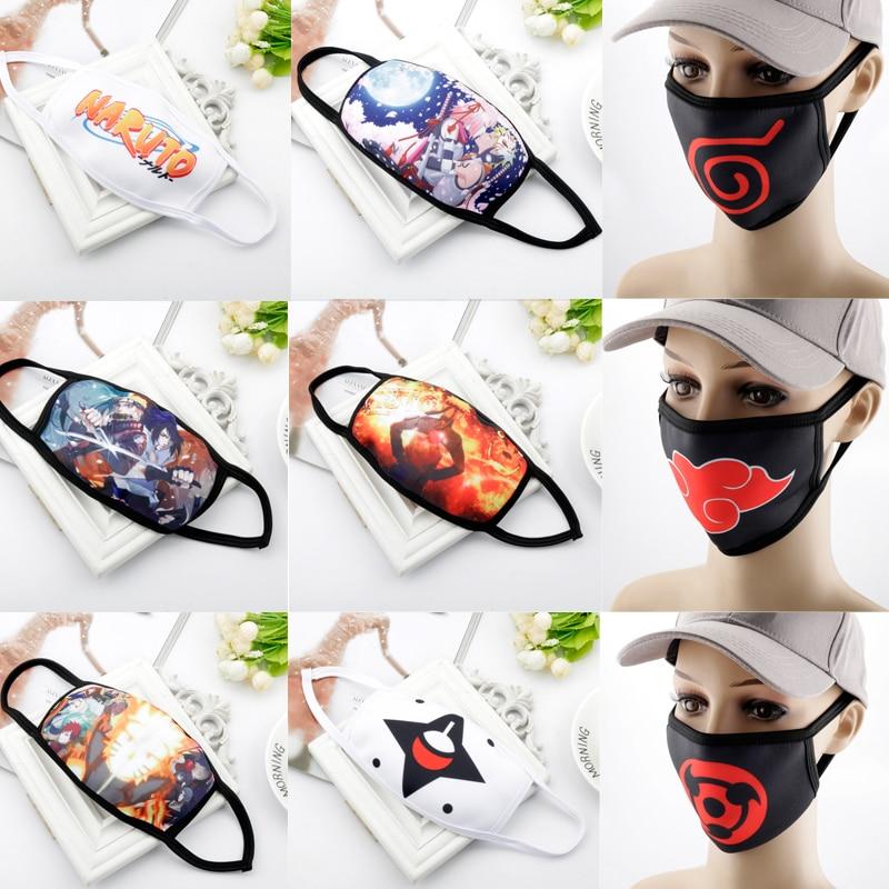 Anime NARUTO Uchiha Itachi Cosplay Mask Konoha Akatsuki Red Cloud Symbol Child Adult Street Sports Half Face Dust-Proof Masks
